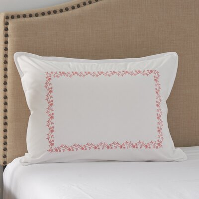 Coral Canvas Embroidered Sham Size: King