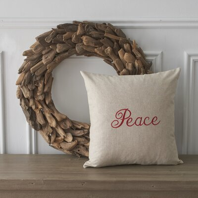 Holiday Words Peace Cotton Throw Pillow