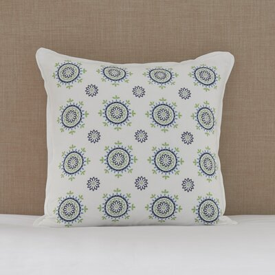 Santa Monica Floral Medallions Cotton Throw Pillow