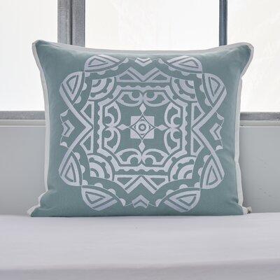Soho Embroidered Tile Medallion Cotton Throw Pillow