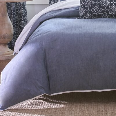 Core Basic Denim Duvet Cover Size: California King