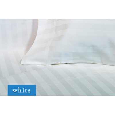 Sylvestor 500 Thread Count Sheet Set Size: King, Color: White