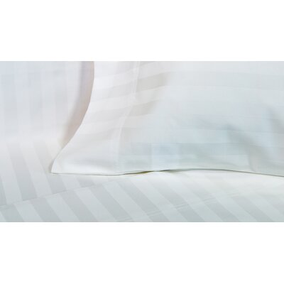 4 Piece 600 Thread Count Cotton Sateen Sheet Set Size: Queen, Color: White