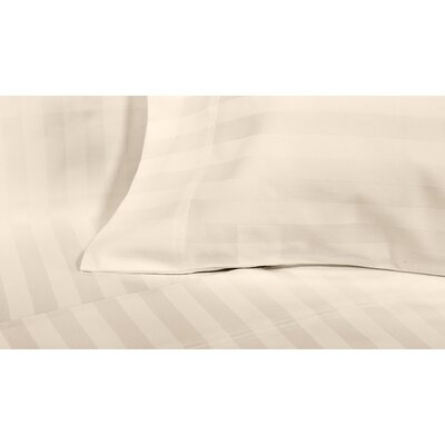 4 Piece 600 Thread Count Cotton Sateen Sheet Set Size: Queen, Color: Ivory