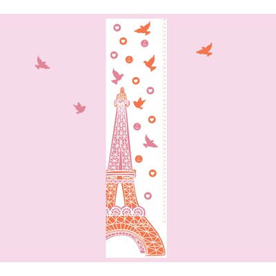 4 Piece Growth Chart Wall Decal Set Color: Pink/Orange 5021-O