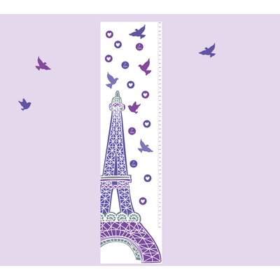4 Piece Growth Chart Wall Decal Set Color: Purple 5021-P