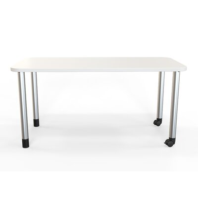 Panther Training Table with Wheels Tabletop Finish: Frosty White, Size: 29 H X 60 W X 30 D
