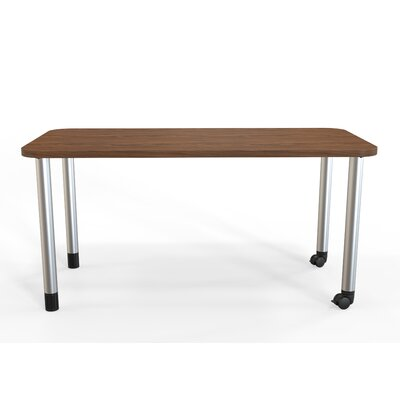 Panther Training Table with Wheels Tabletop Finish: Montana Walnut, Size: 29 H X 60 W X 30 D