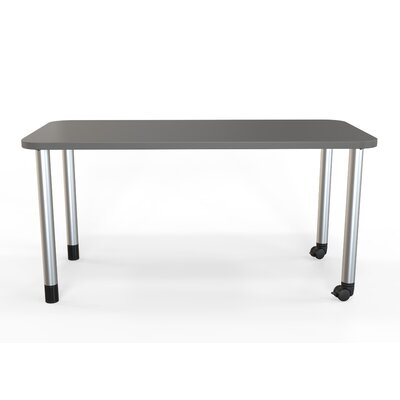 Panther Training Table with Wheels Size: 29 H X 60 W X 30 D, Tabletop Finish: Slate Gray