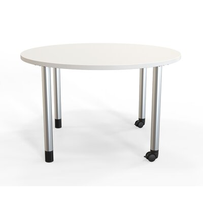 Panther Training Table with Wheels Tabletop Finish: Frosty White, Size: 29 H X 48 W X 48 D