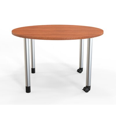 Panther Training Table with Wheels Size: 29 H X 48 W X 48 D, Tabletop Finish: Amber Cherry