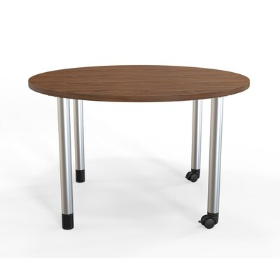 Panther Training Table with Wheels Size: 29 H X 48 W X 48 D, Tabletop Finish: Montana Walnut