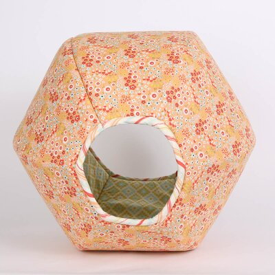 Floral Geometric Pet Bed