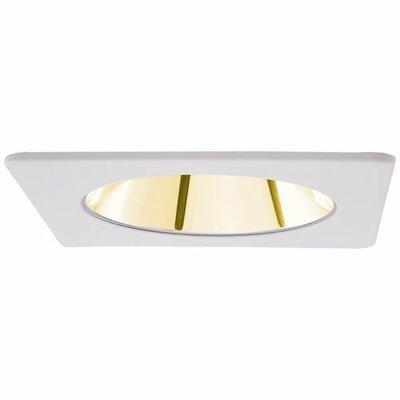 Square Specular Reflector 4 LED Recessed Trim Trim Finish: Gold