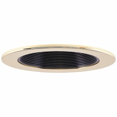 Low Voltage Baffle 4 Recessed Trim Finish: Black/Gold