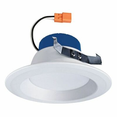 Round Insert Reflector 4 LED Recessed Trim Trim Finish: White/Blue