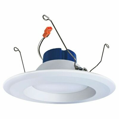Round Insert Reflector 5 LED Recessed Retrofit Downlight Trim Finish: White