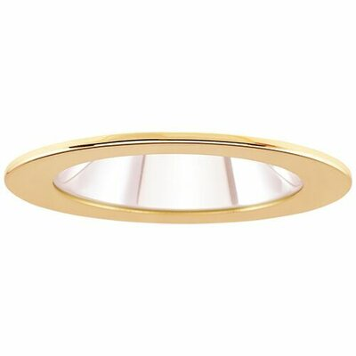 Adjustable Showers Clear Lens 4 LED Recessed Trim Trim Finish: Gold