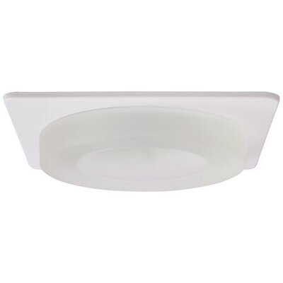 Frosted Glass Square 4 LED Recessed Trim Trim Finish: White