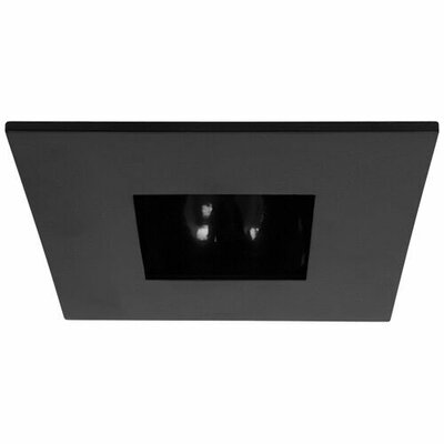 Square Adjustable Reflector 3 LED Recessed Trim Trim Finish: Black