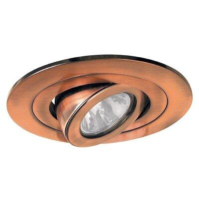 Low Voltage Adjustable Spot 4 Recessed Trim Trim Finish: Copper