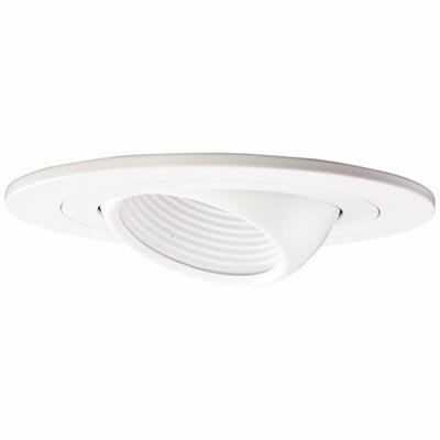 Low Voltage Adjustable Eyball 4 Recessed Trim Finish: White