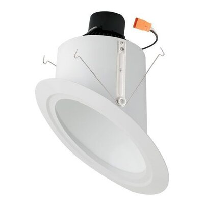 Super Sloped Ceiling Baffle Inserts 6 LED Recessed Trim Finish: White
