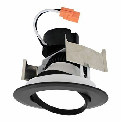 Insert Adjustable Gimbal 4 LED Recessed Trim Trim Finish: Black