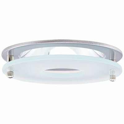 Reflector Suspended Frosted Glass 4 LED Recessed Trim Trim Finish: Nickel