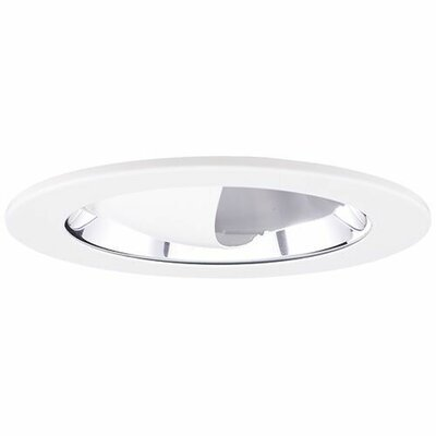 Adjustable Wall Wash Reflector 4 LED Recessed Trim Finish: Chrome
