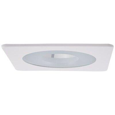 Square Pinhole 4 LED Recessed Trim Trim Finish: White