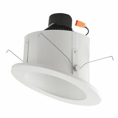 Sloped Ceiling Baffle Inserts 6 LED Recessed Retrofit Downlight