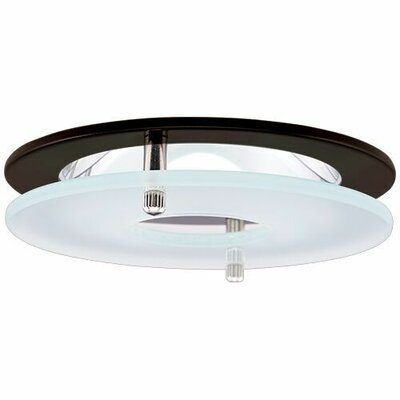 Reflector Suspended Frosted Glass 4 LED Recessed Trim Trim Finish: Bronze