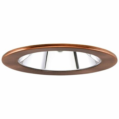 Low Voltage Adjustable Reflector 4 Recessed Trim Finish: Clear/Copper