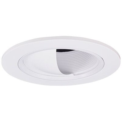 Adjustable Baffle Wall Wash 3 LED Recessed Trim Finish: White