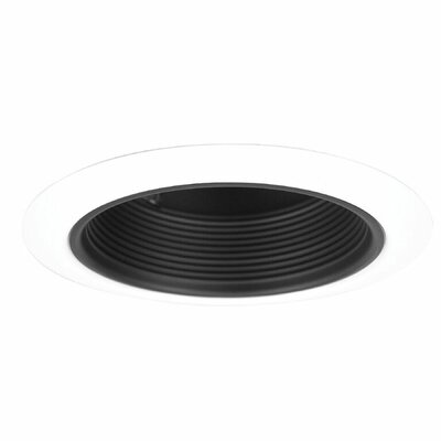 Stepped Baffle 5 Recessed Trim Finish: Black/White