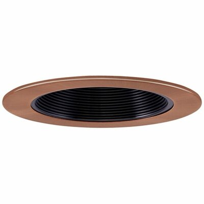 Low Voltage Baffle 4 Recessed Trim Finish: Black/Copper