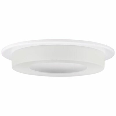 Frosted Glass White Ring 4 LED Recessed Trim Trim Finish: White