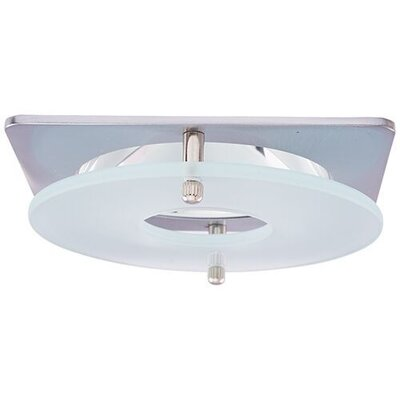 Suspended Frosted Glass 4 LED Recessed Trim Trim Finish: Nickel