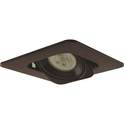 Low Voltage Square 4 Recessed Trim Trim Finish: Bronze