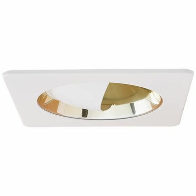 Adjustable Wall Wash Reflector 4 LED Recessed Trim Finish: Gold/White