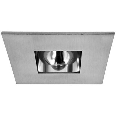 Square Adjustable Reflector 3 LED Recessed Trim Trim Finish: Nickel/Clear