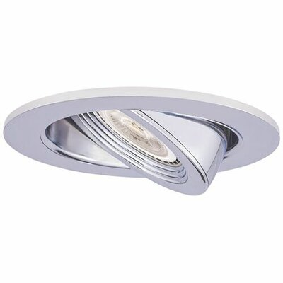 Die Cast Adjustable Pull Down 3 LED Recessed Trim Trim Finish: Chrome