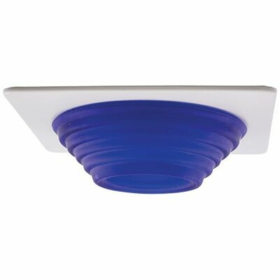 Frosted Stepped Glass 4 LED Recessed Trim Trim Finish: Blue