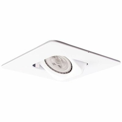 Square Gimbal 4 LED Recessed Trim Finish: White