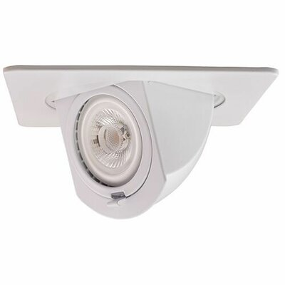 Square Pull Down 4 LED Recessed Trim Trim Finish: White