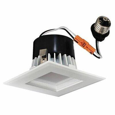 Square Insert Square Baffle 4 LED Recessed Lighting Kit Trim Finish: White