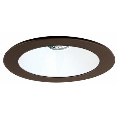 Low Voltage Adjustable Reflector 4 Recessed Trim Finish: White/Bronze