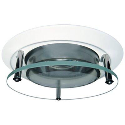 Suspended Glass Lens 3 LED Recessed Trim Trim Finish: White