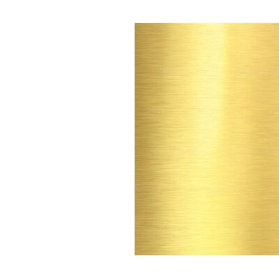 Phenolic Metal Baffle 4 Recessed Trim Finish: White/Gold